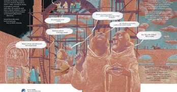 rozmlouvající mniši