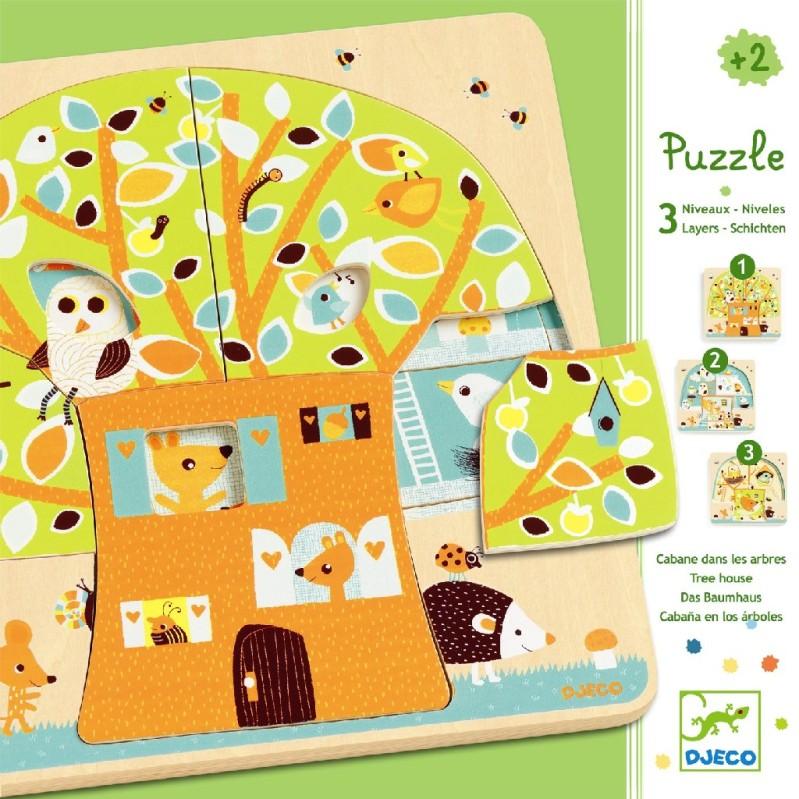 Dřevěné puzzle Djeco
