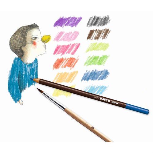 akvarelové pastelky Djeco