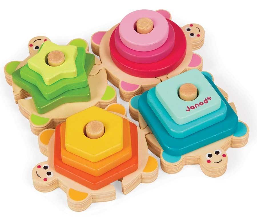 Dobrá hračka - dřevěné puzzle a vkládačka Janod