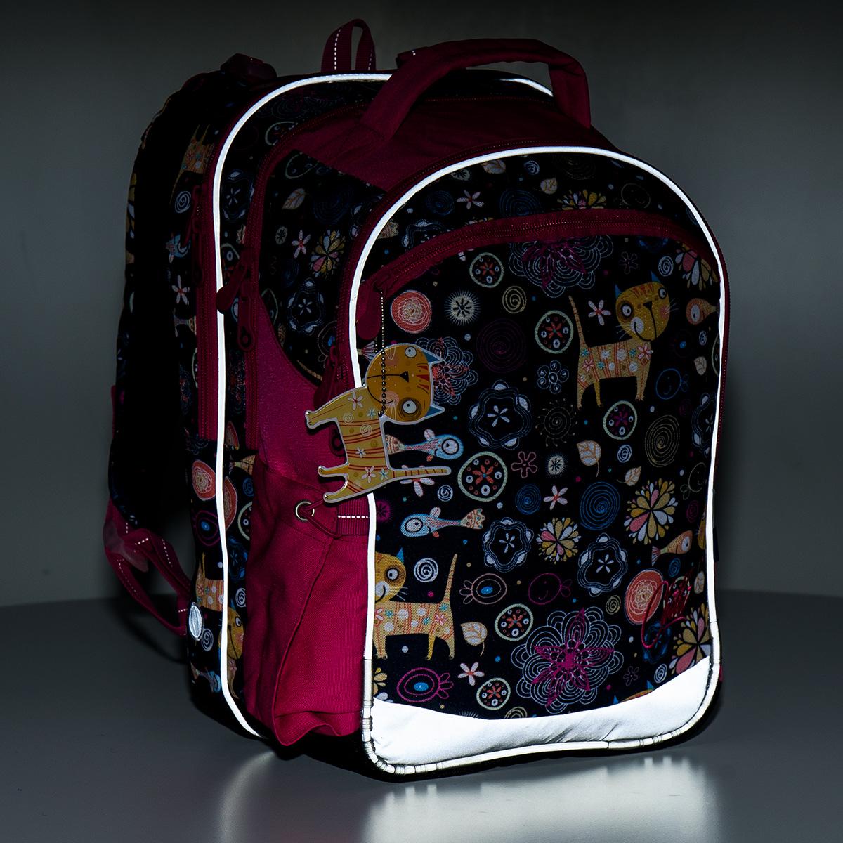reflexní test školního batohu ... c1ad8e7ef0