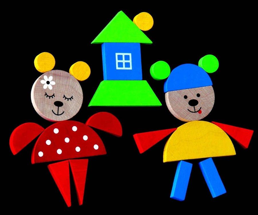 dřevěné magnetky pro děti