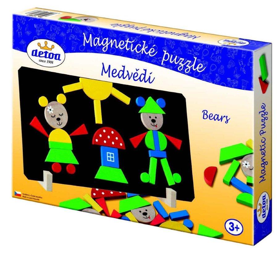 dřevěné magnetické puzzle  Detoa