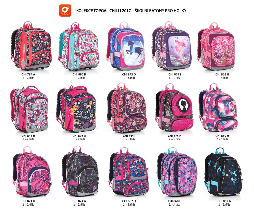 školní batohy pro holky Topgal 2017