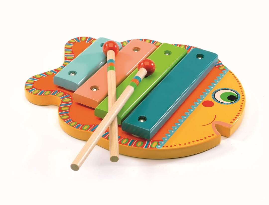 dřevěný xylofon pro děti