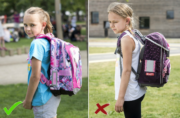 Jak má tedy vypadat správně usazená školní aktovka?