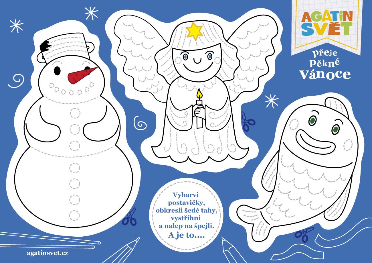 Vánoční vystřihovánka pro děti