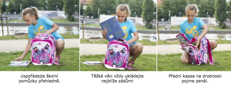 Jak správně nosit batoh? Vnitřní organizace školní tašky