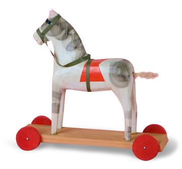 první dřevěná hračka Brio