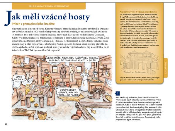 Cesty dětí do staletí -  dětská knížka o českých dějinách