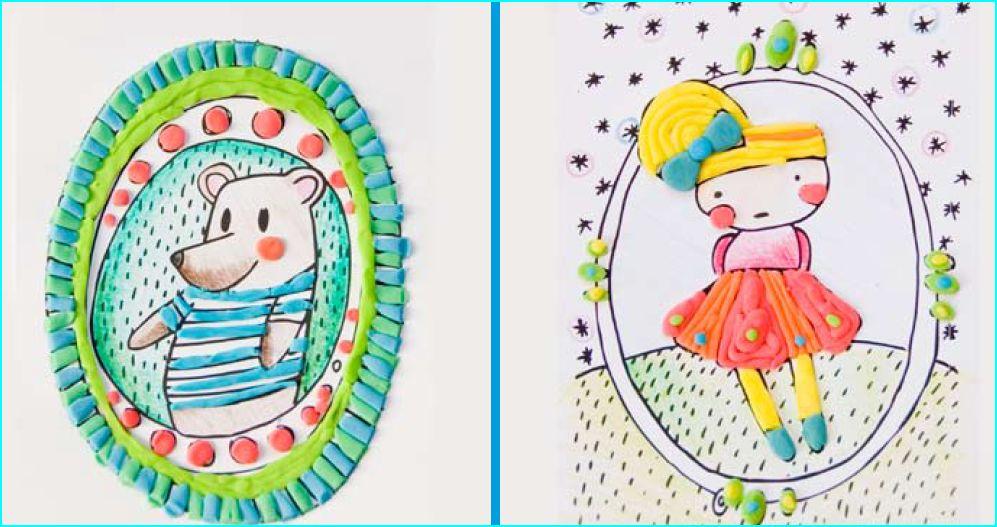 Obrázek z modelíny Play-doh