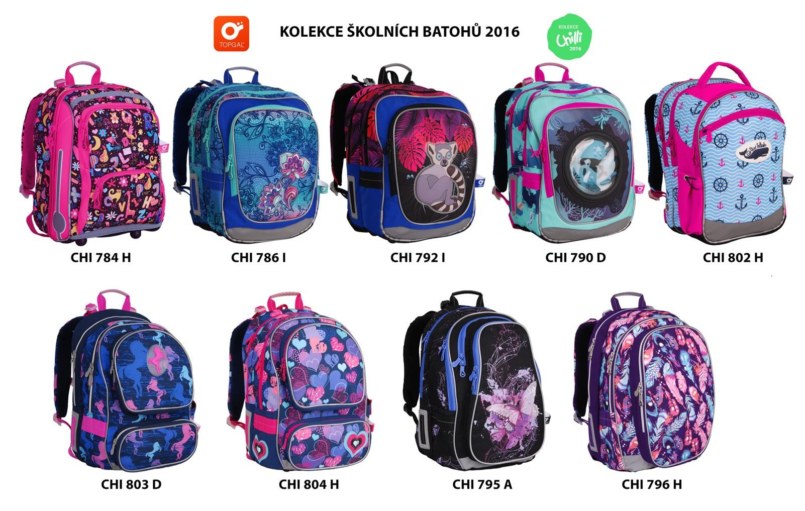 Nová kolekce školních batohů Topgal  86c1ca812d