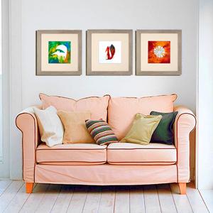 Obrázky z prstových barev originálně vyzdobí vás domov