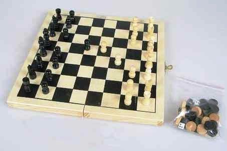 Malé dřevěné šachy