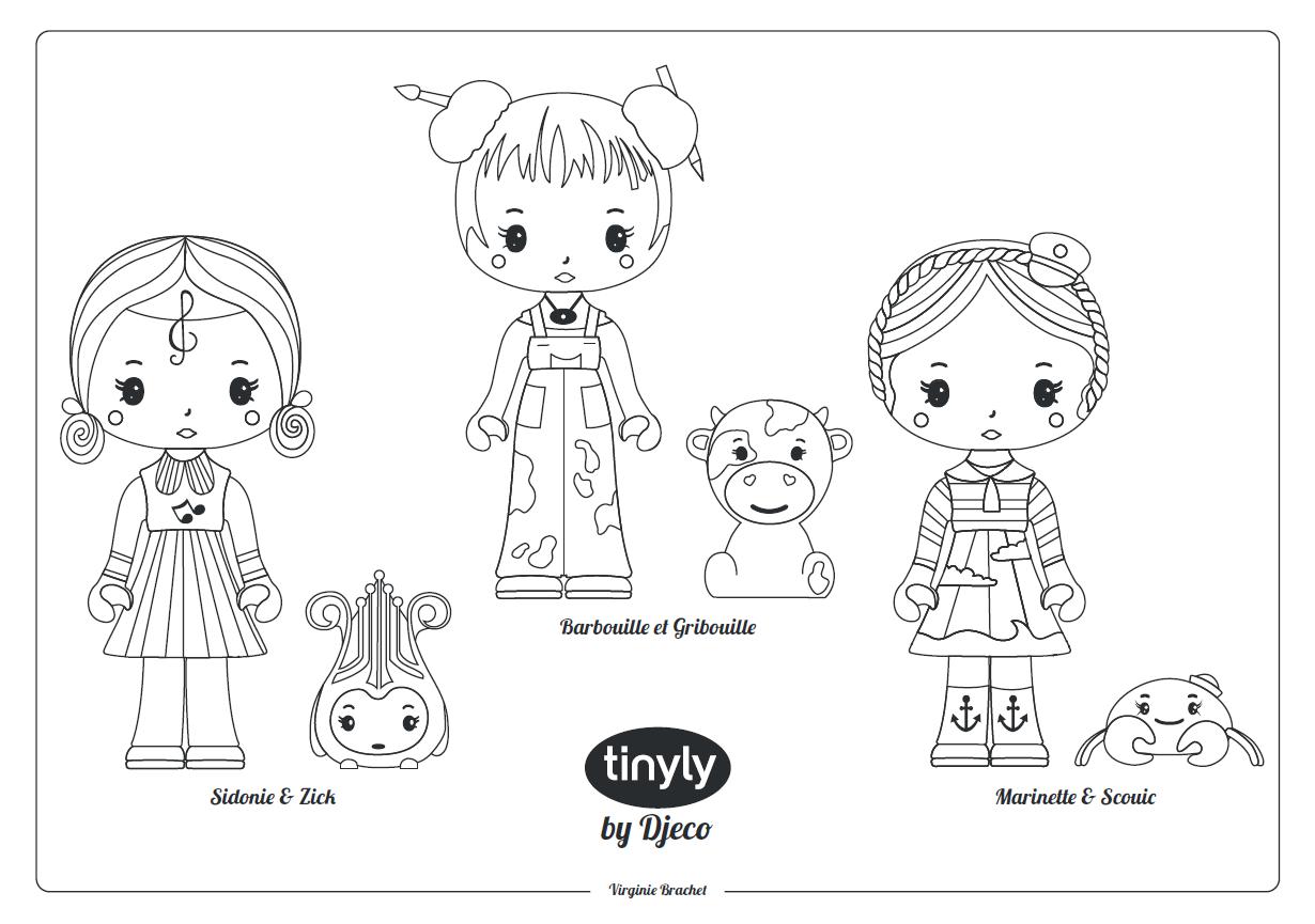 Omalovánky Djeco Tinyly