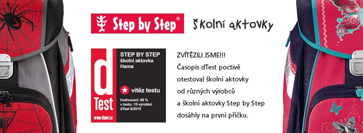 Test školních aktovek dTest – Značky HAMA Step by step a Topgal ve vedení